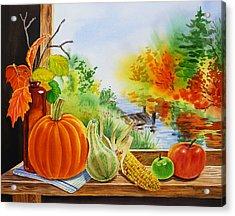 Autumn Harvest Fall Delight Acrylic Print by Irina Sztukowski