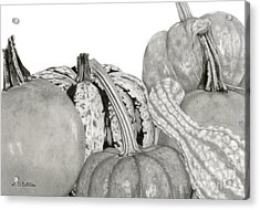 Autumn Harvest On White Acrylic Print