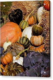 Autumn Harvest Acrylic Print by Rosanne Jordan
