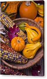 Autumn Harvest Still Life Acrylic Print by Garry Gay