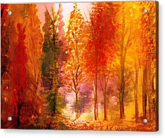 Autumn Hideaway Revisited Acrylic Print by Anne-Elizabeth Whiteway