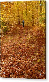 Autumn Hike Acrylic Print