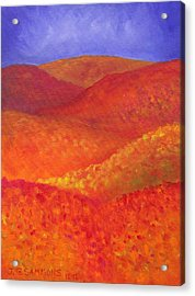 Acrylic Print featuring the painting Autumn Hills by Janet Greer Sammons