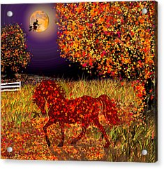 Autumn Horse Bewitched Acrylic Print