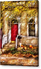 Autumn - House - A Hint Of Autumn  Acrylic Print by Mike Savad