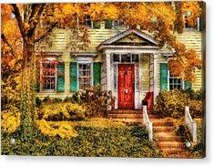Autumn - House - Local Suburbia Acrylic Print by Mike Savad