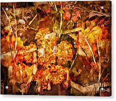 Autumn Impression Abstract Acrylic Print