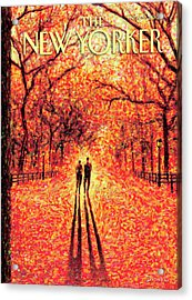 Autumn In Central Park Acrylic Print by Eric Drooker
