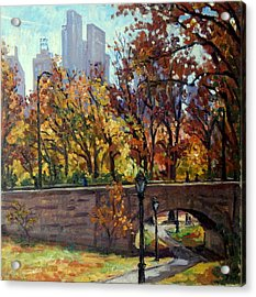 Autumn In Central Park Nyc.  Acrylic Print