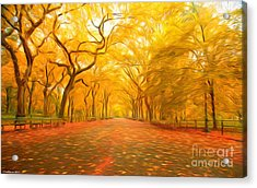 Autumn In Central Park Acrylic Print
