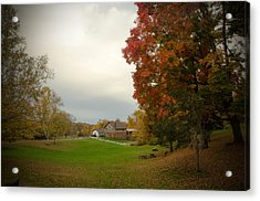 Autumn In Connecticut. Acrylic Print by Nestor m Montanez