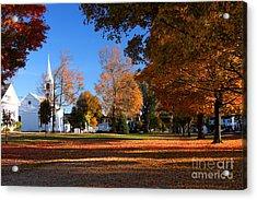 Autumn In Massachusetts Acrylic Print by Denis Tangney Jr