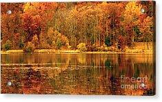Autumn In Mirror Lake Acrylic Print