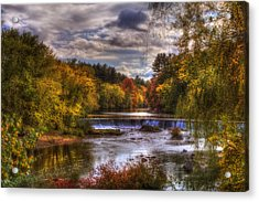 Autumn In New England - Contoocook Nh Acrylic Print by Joann Vitali