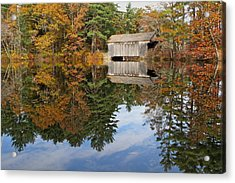 Autumn In New England Acrylic Print by John Babis
