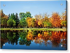 Autumn In October Acrylic Print by Ivan Vukelic
