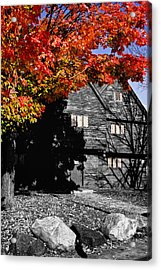 Autumn In Salem Acrylic Print by Jeff Folger