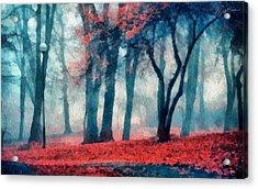 Autumn In The City Acrylic Print by Marina Likholat