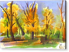 Autumn In The Forest Acrylic Print by Kip DeVore