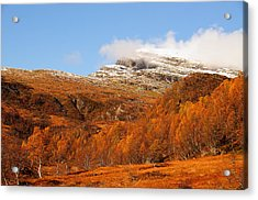 Autumn In The Mountains Acrylic Print by Gry Thunes
