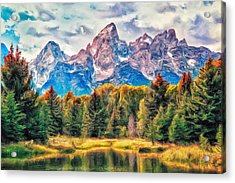 Autumn In The Tetons Acrylic Print by Dominic Piperata