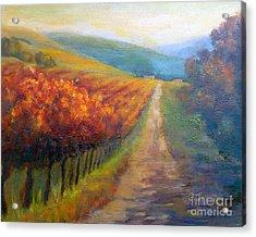 Autumn In The Vineyard Acrylic Print