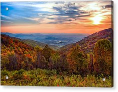 Autumn In Virginia Acrylic Print by Phil Abrams