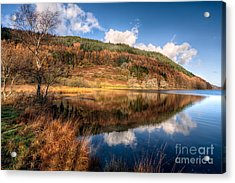 Autumn In Wales Acrylic Print by Adrian Evans