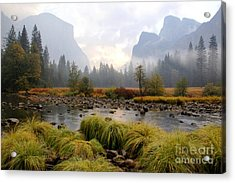 Autumn In Yosemite Valley Acrylic Print