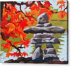 Autumn Inukshuk Acrylic Print