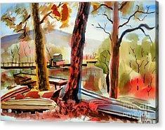 Autumn Jon Boats I Acrylic Print by Kip DeVore