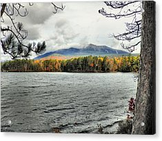 Acrylic Print featuring the photograph Autumn Katahdin by Gene Cyr