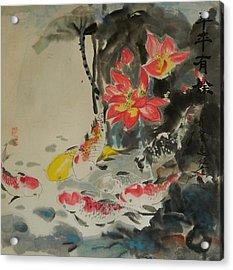 Autumn Koi Acrylic Print