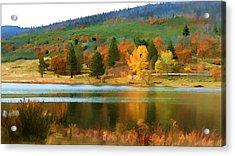 Autumn Lake Color Acrylic Print