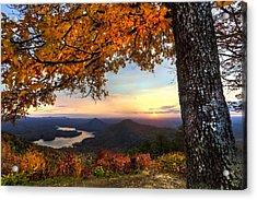 Autumn Lake Acrylic Print by Debra and Dave Vanderlaan