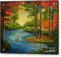 Autumn Lake Acrylic Print by Shelia Kempf