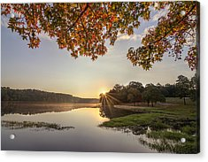 Autumn Lake Sunrise In East Texas Acrylic Print