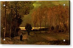 Autumn Landscape At Dusk 1885 Acrylic Print by Vincent Van Gogh