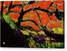 Acrylic Print featuring the digital art Autumn Landscape   by Jim Vance