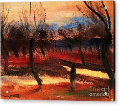 Autumn Landscape Acrylic Print by Pg Reproductions