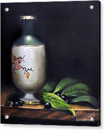 Autumn Laurel Berries Acrylic Print by Elizabeth Williams