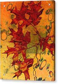 Autumn Leaves Acrylic Print by Ann Powell