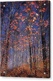 Autumn Leaves Acrylic Print by Florentin Vinogradof