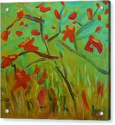 Autumn Leaves Acrylic Print by Francine Frank