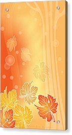 Autumn Leaves Acrylic Print by Gayle Odsather
