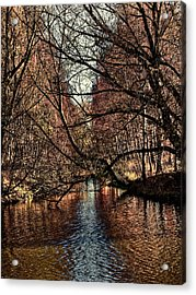 Acrylic Print featuring the photograph Autumn Light By Leif Sohlman by Leif Sohlman