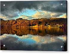 Autumn Light On Lake Grasmere Acrylic Print by Adrian Campfield