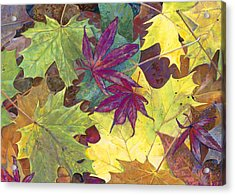 Autumn Maple Leaves Acrylic Print