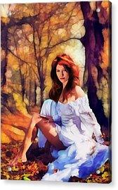 Autumn Acrylic Print by Marina Likholat