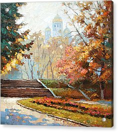 Acrylic Print featuring the painting Autumn Midday by Dmitry Spiros